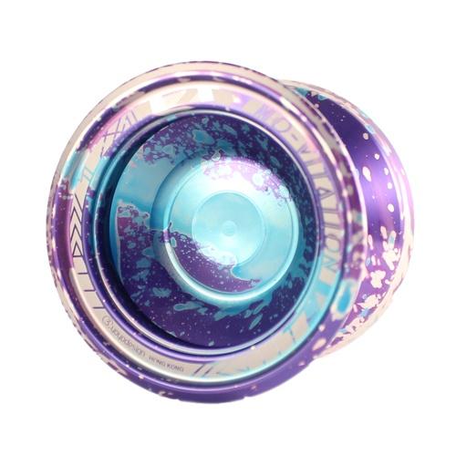 C3yoyodesign Mo-vitation - Blue / Purple acid wash w/ Silver splash