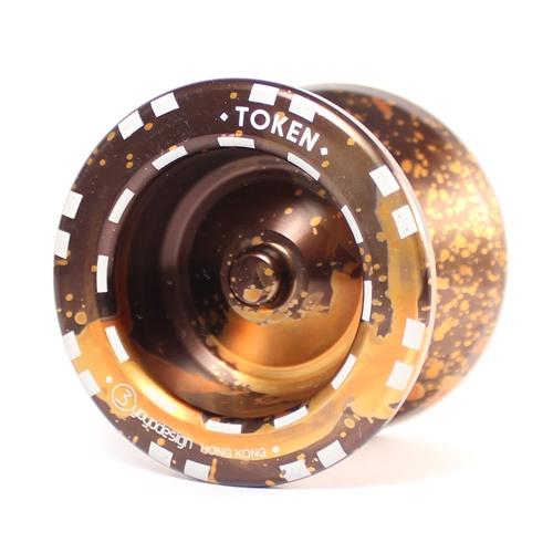 C3yoyodesign Token - Brown / Orange Acid Wash