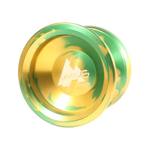 C3yoyodesign Level 6 - Green / Yellow Acid Wash