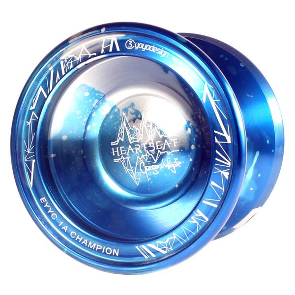 C3yoyodesign Heartbeat - Blue / Silver