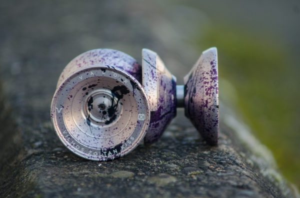 One Drop Valor - Ayame (Silver w/ Dark Purple and Black Splash)