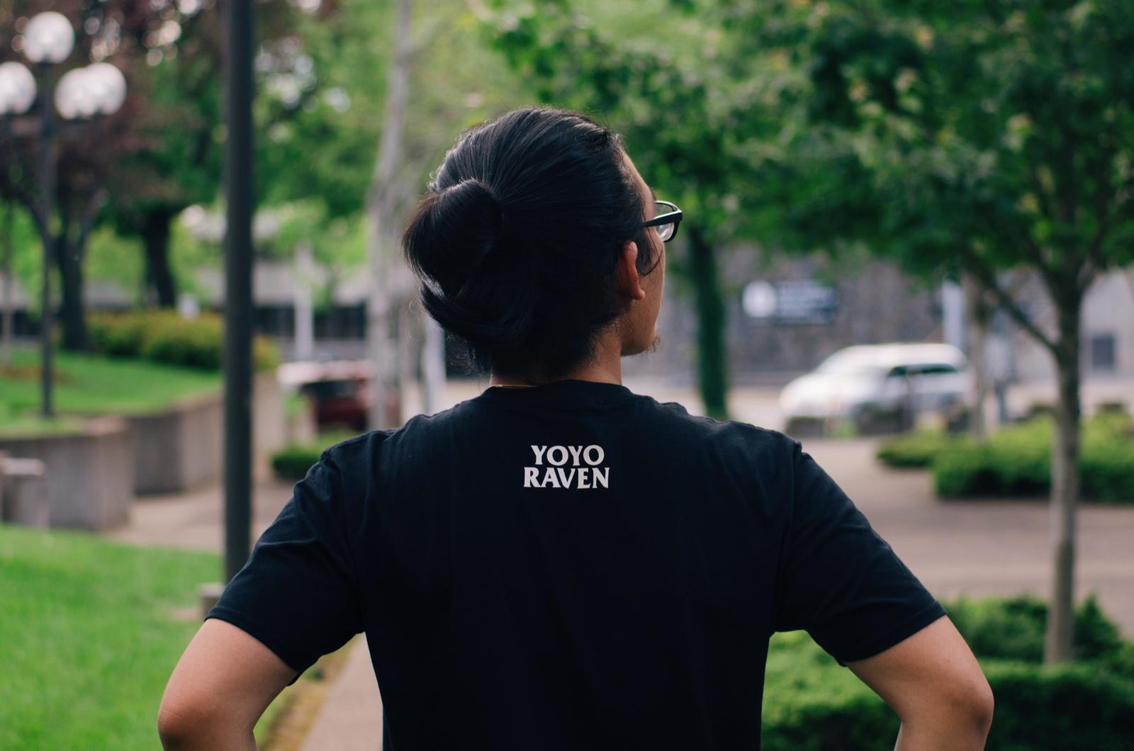 Kuro T-shirt Black Back