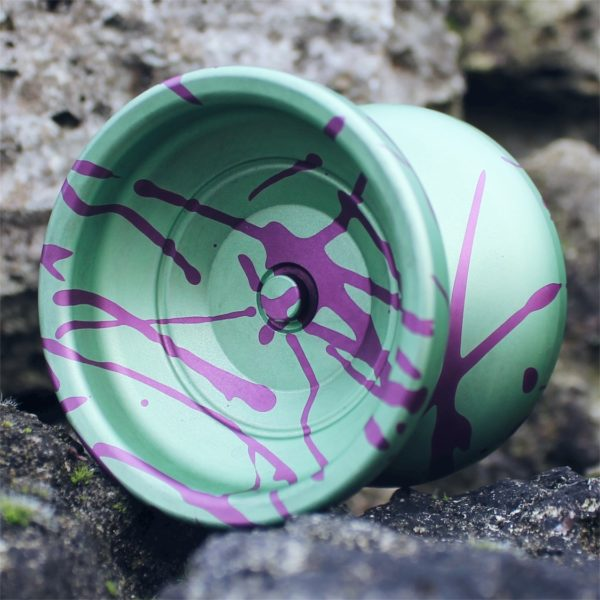 Yoyofficer Urban - Green w/ Purple splash