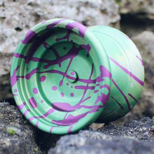 Yoyofficer Vector - Green w/ Purple splash